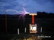 Разряды с катушки Тесла