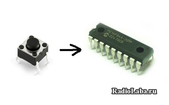 Кнопка и микроконтроллер