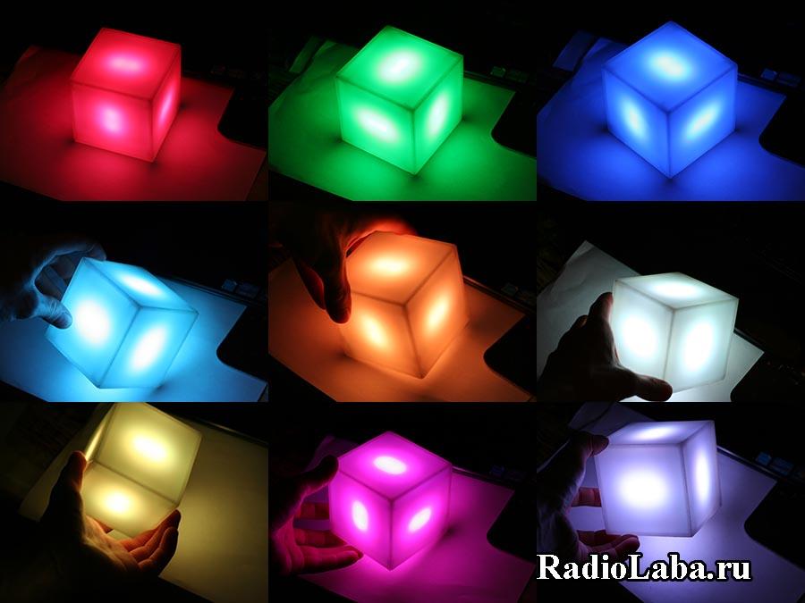 RGB Куб, свечение