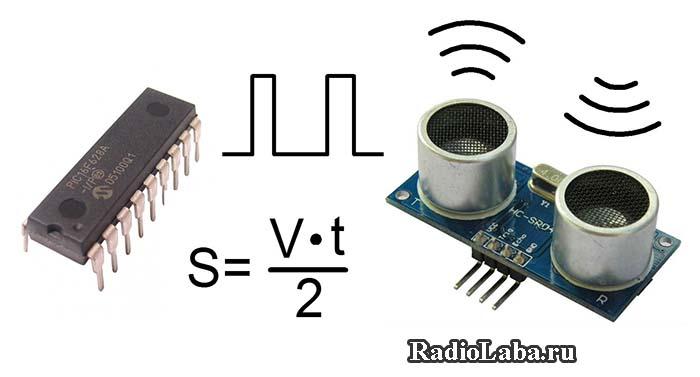 Подключение модуля HC-SR04 к микроконтроллеру