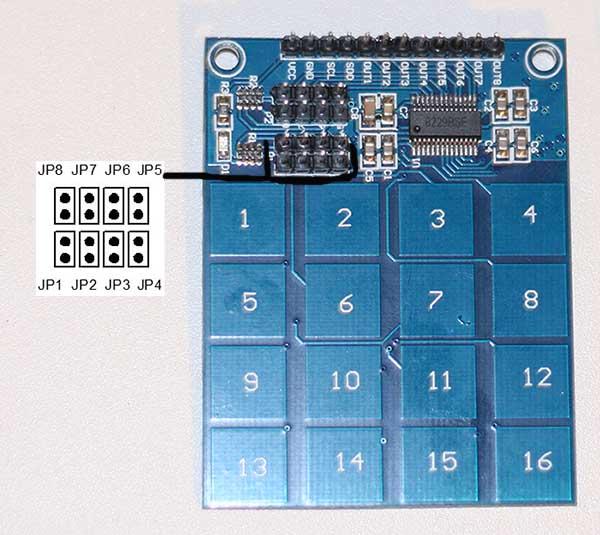 Внешний вид клавиатуры TTP229