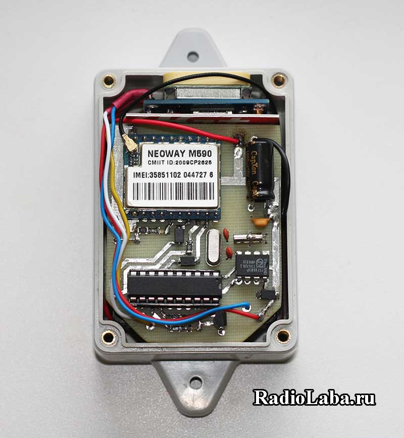 GPS-GSM трекер в сборе