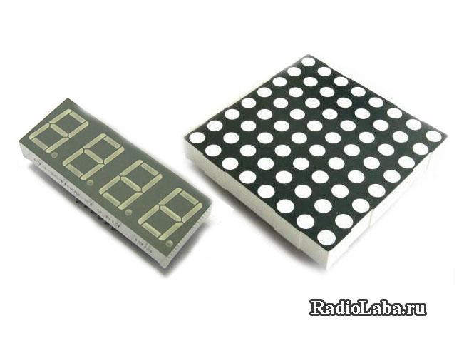 Динамическая индикация. Подключение светодиодной матрицы к микроконтроллеру