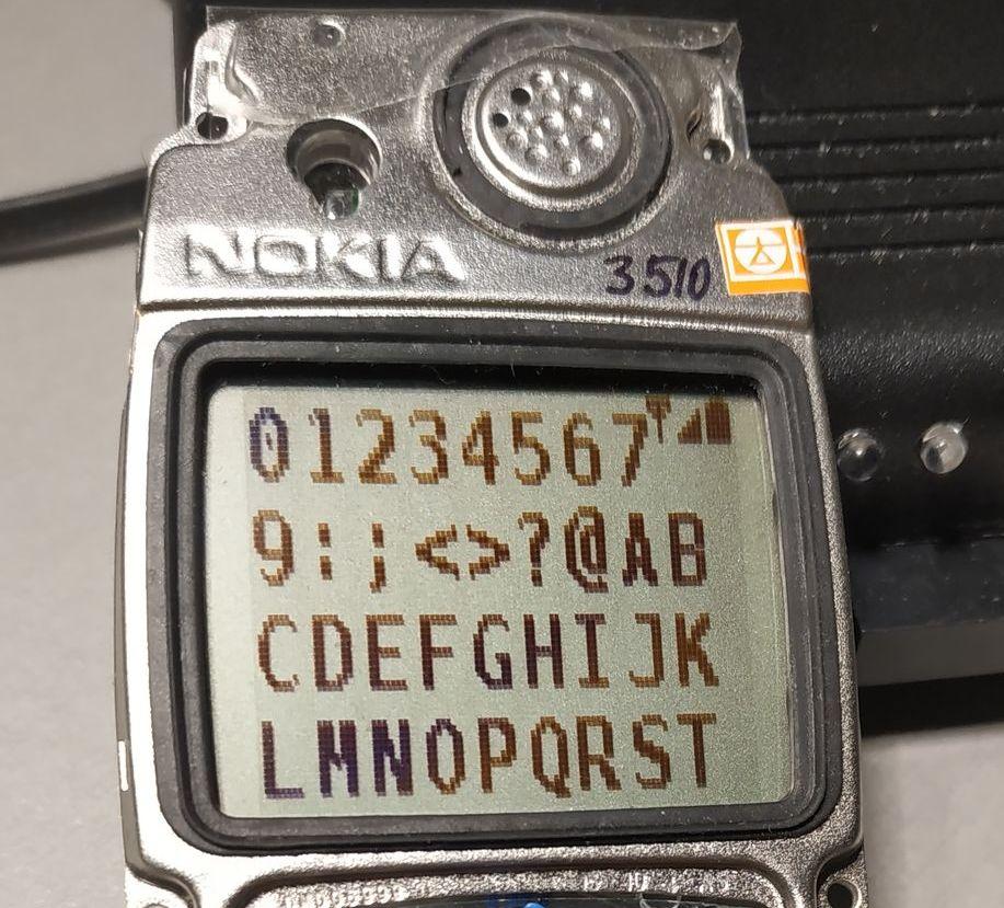 Nokia 5110 шрифт 7x11