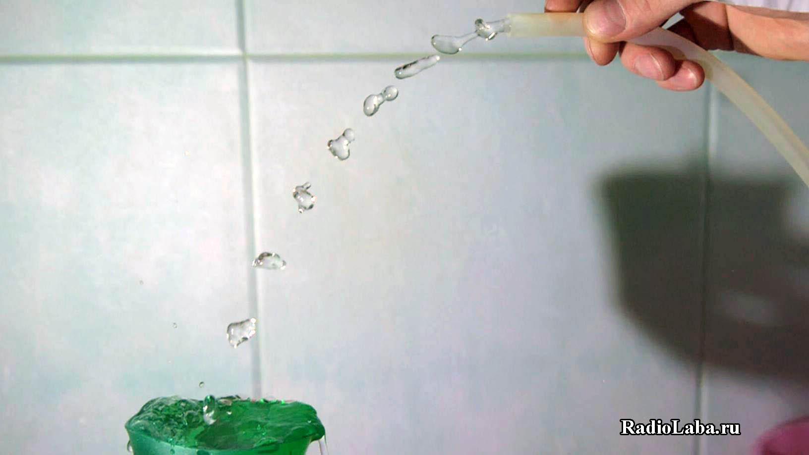 Стробоскопический эффект левитация воды